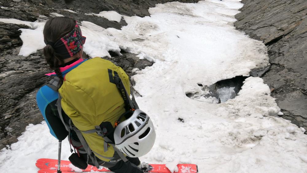 Najužšie miesto lyžovačky.